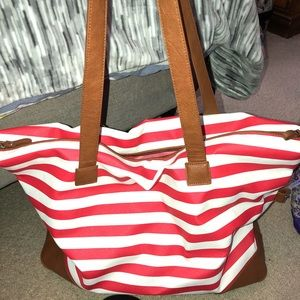 Handbags - Striped weekender bag!!